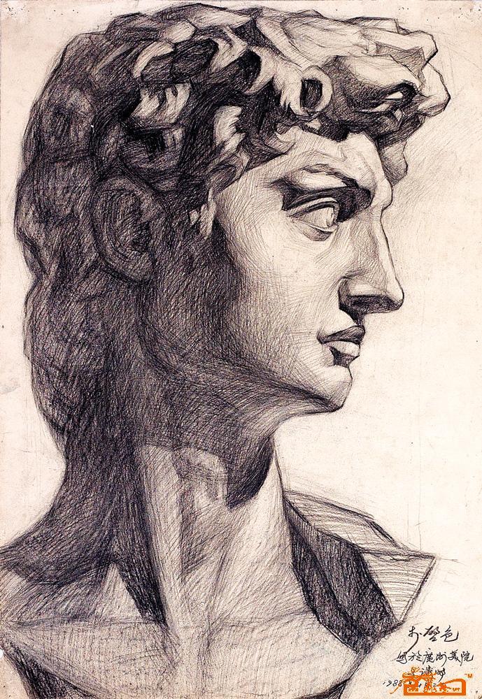 大卫石膏像 大卫石膏像素描步骤 大卫石膏像素描